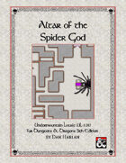 Undermountain Locale: Altar of the Spider God
