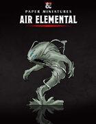 Air Elemental Paper Miniature