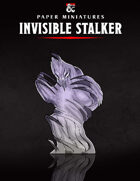 Invisible Stalker Paper Miniature