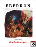 Cannith Catalogue - An Eberron Equipment Supplement