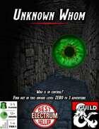 Adventure: Unknown Whom