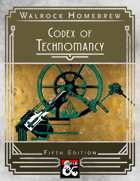 {WH} Codex of Technomancy, additional spells that blend science with the arcane!
