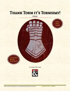 Thank Torm it's Tormsday
