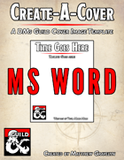 DMs Guild Cover Image Template (MS WORD)