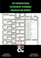 5e Compatible Dungeon Themed Character Sheet