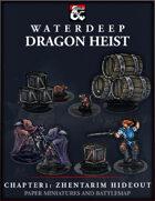 Dragon Heist - Chapter 1: Zhentarim Hideout Paper Miniatures