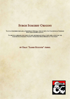Sorcerer Subclass - Surge Origins