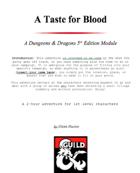 A Taste for Blood