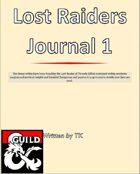 Lost Raiders Journal 1