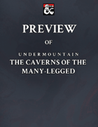 Preview Copy of Undermountain: The Caverns of the Many-Legged