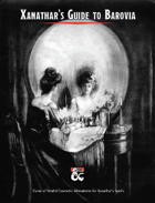 Xanathar's Guide to Barovia: Gothic Horror Spell Alterations