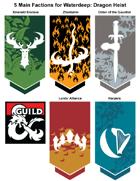 art 002 - Dragon Heist 5 Faction Emblems approximations