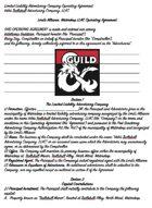 Adventuring Guild / Company Contract - Trollskull Manor Waterdeep