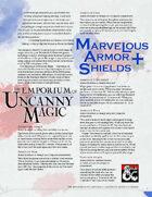 The Emporium of Uncanny Magic — Marvelous Armor and Shields