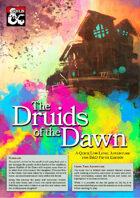 Druids of the Dawn - 1st Tier Adventure (5e)