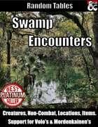 Swamp Encounters - Random Encounter Tables
