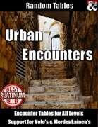 Urban Encounters - Random Encounter Tables for Cities