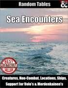 Sea Encounters - Random Encounter Tables