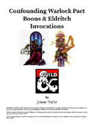 Confounding Warlock Pact Boons
