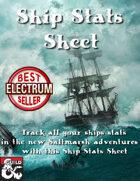 Saltmarsh Ship Stats Sheet