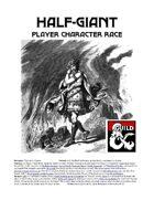 Half-Giant Player Character Race