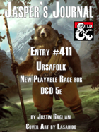 Jasper's Journal: Ursafolk, New Playable Race