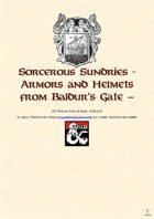 Sorcerous Sundries - Compendium of Magic Items from Baldur's Gate - Armors and Helmets