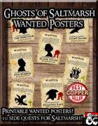 Ghosts of Saltmarsh Wanted Posters