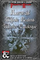 Aurora's Whole Realms Winter Catalogue
