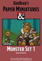 Monster Set 1 Goblins and Bugbear - KooBear's Paper Miniatures