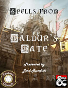 Spells from Baldur's Gate (Fantasy Grounds)