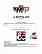 CCC-SLMH01-01 Codex Venator - The Last Hunter