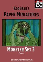 Monster Set 3 Trolls - KooBear's Paper Miniatures
