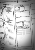 Captioned Character Sheet