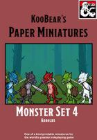 Monster Set 4 Kobolds - KooBear's Paper Miniatures