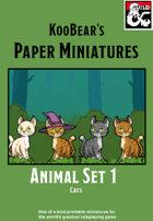 Animals Set 1 Cats - KooBear's Paper Miniatures
