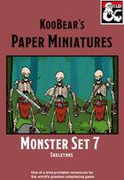 Monster Set 7 Skeletons - KooBear's Paper Miniatures