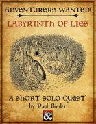 D&D Solo Adventure: Labyrinth of Lies