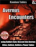 Avernus Encounters - Encounter Tables using Baldur's Gate: Descent into Avernus