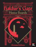 Baldur's Gate Notice Boards | A Descent Into Avernus Supplement