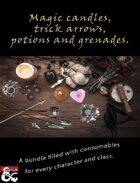 Magic candles, trick arrows, potions & grenades [BUNDLE]