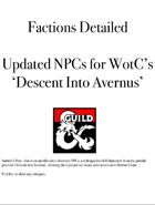 Factions Detailed Updated NPCs