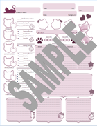 Character Sheet (Cat Themed)