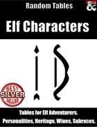 Elf Characters - Random Tables