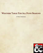 Weather generator for all seasons