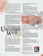 The Emporium of Uncanny Magic — Impeccable Weapons