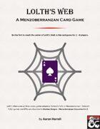 Lolth's Web - A Menzoberranzan Card Game