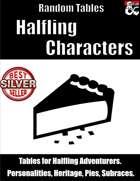 Halfling Characters - Random Tables