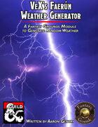 VeX's Faerûn Weather Generator (Fantasy Grounds)