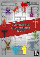 Class Character Sheets - Fully Editable Bundle